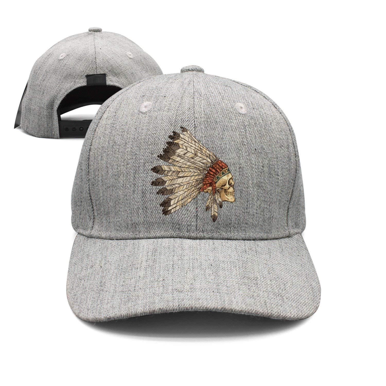 Haydner Moosers Indian Skull Unisex Baseball Hats Adjustable Trucker Cap