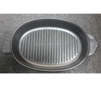 Black Ceramic Coating Bbq Cooking Microwave Oven Safe