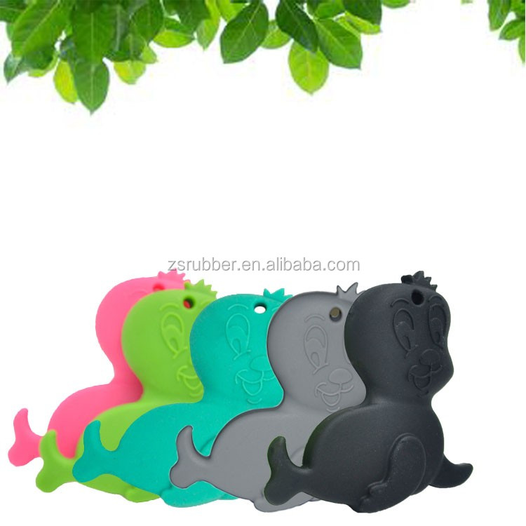 attractive safety baby silicone teether baby silicone Seal teether