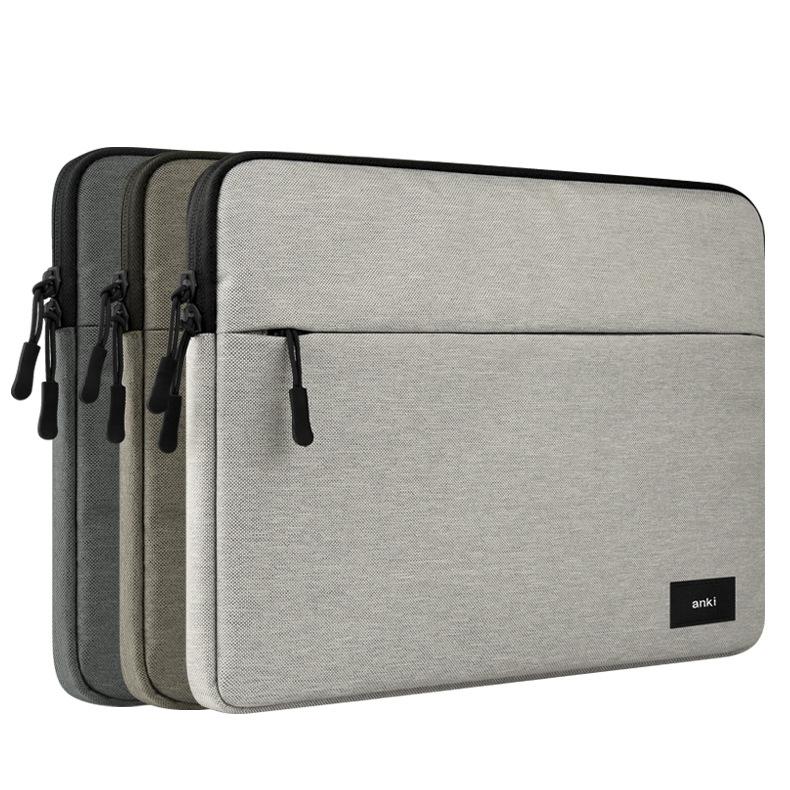 Großhandel Luxuxretina Hülsen Fall Doppelstöckige Beutel Tasche Macbook Laptop Beutel PU Leder Schutzabdeckung Für Apple MacBook Air 11 13 12 Zoll Von