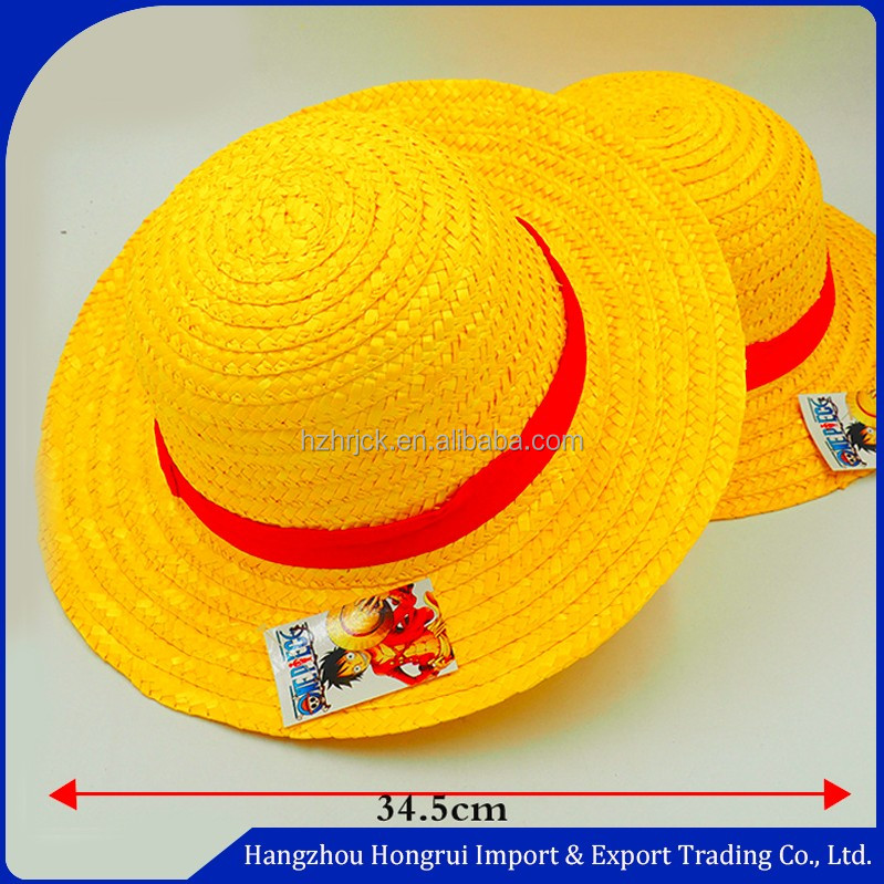 Chapéu de palha por atacado para anime cosplay Monkey D. Luffy one piece  luffy chapéu 3ba9f659139