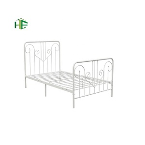 wholesale high quality blue Concise Style metal single bed for children