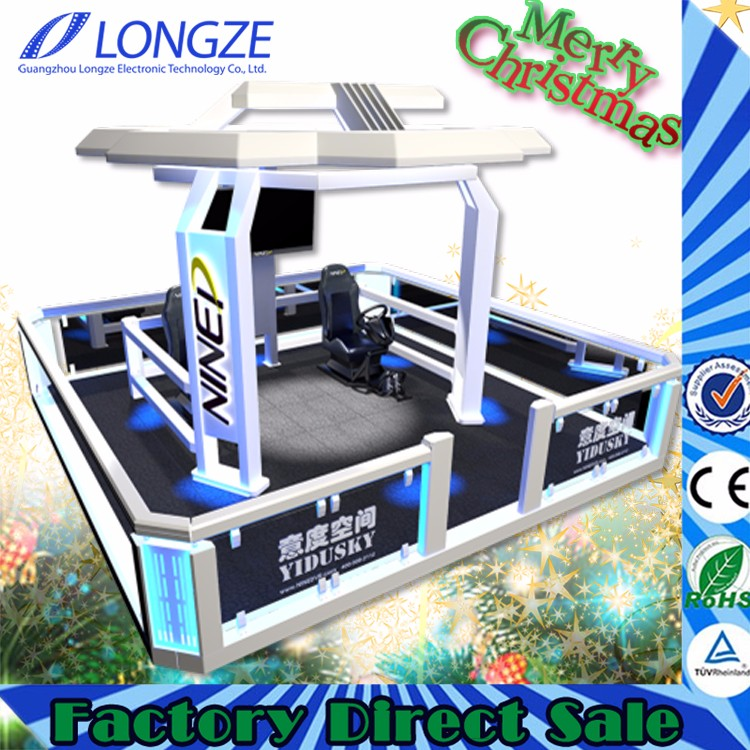 Longze YIDU SKY Amusement Park 9D VR Play Platform Virtual Reality Walking HTC Vive Standing Simulator VR