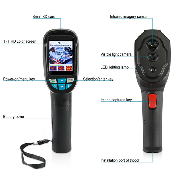 Hti HT-102 Mobile Phone Thermal imaging camera Support Video and Pictures Recording Thermo Camera Infrared Imager For Android