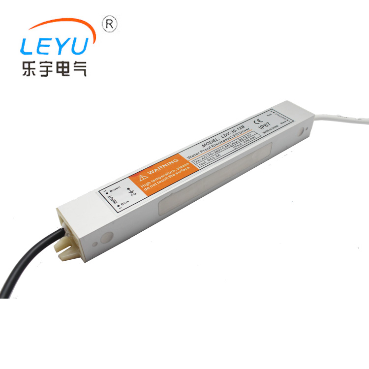 IP67 LDV-30-12 aluminum shell / constant voltage , waterproof power supply 30W 12V led driver