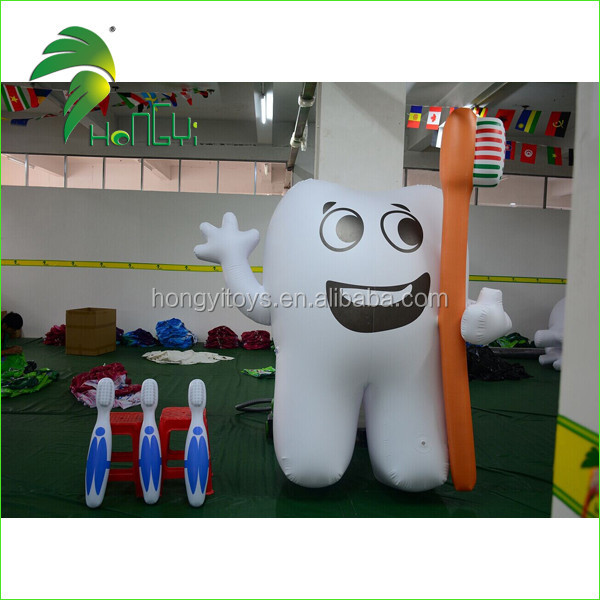 Advertising Inflatable Tooth Balloon Model With Logo