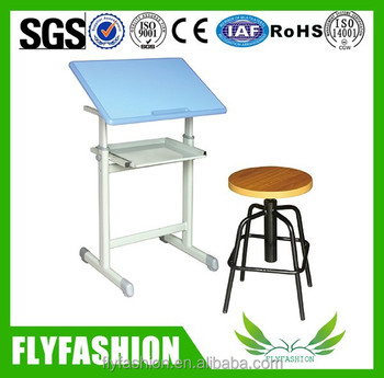 Modern Design Adjustable School Drafting Table And Chair