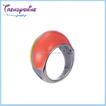 Fashion big lady enameled 316L stainless steel silver nepal ring