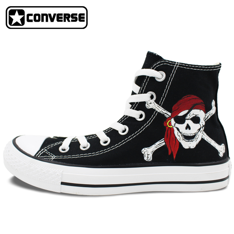 Mens Converse Skull Shoes