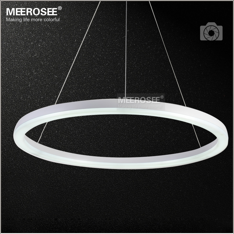 26 inch led ring light fixture acrylic pendant light modern led lighting white led lustre. Black Bedroom Furniture Sets. Home Design Ideas