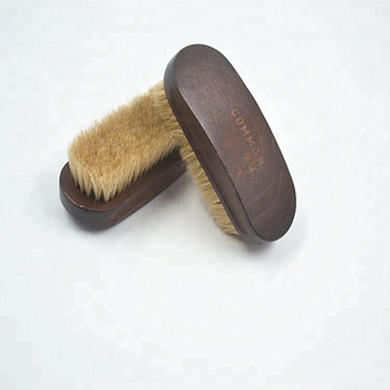 vintage style beech wood shoe cleaning brush with soft horse hair/ wooden shoe brush