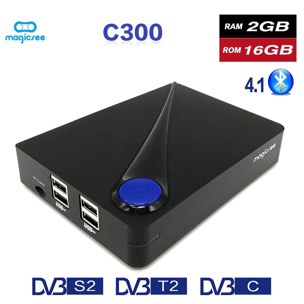 Magicsee C400 plus 4K Android satellite receiver DVB S2 T2 C box OEM