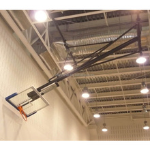New design tempered glass basketball board ceiling mounting basketball stand