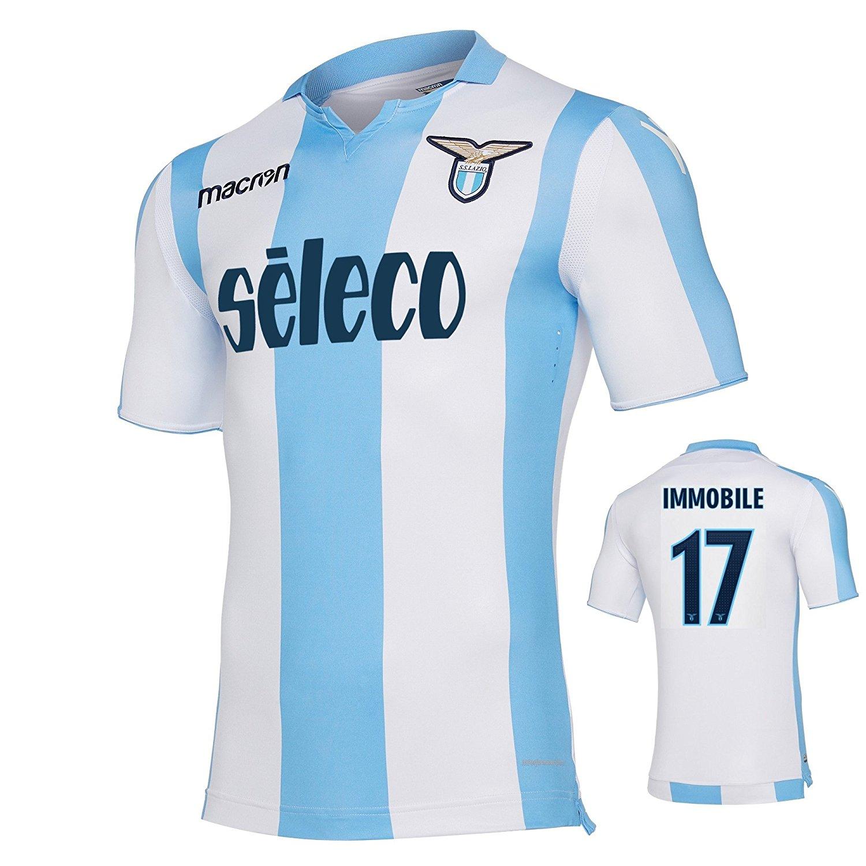 3dd84e9f9 Get Quotations · SS Lazio Away Immobile Jersey 2017 18 Macron (Original  Printing)