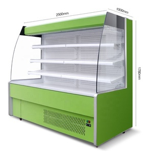 Jiacheng supermarket open display cooler refrigerator, multideck open chiller with CE for fruit vegetable JC-SG25F