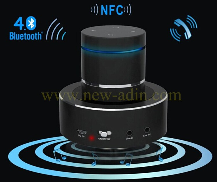 BQB 26W Blue tooth speaker mini portable wireless car subwoofer with microphone