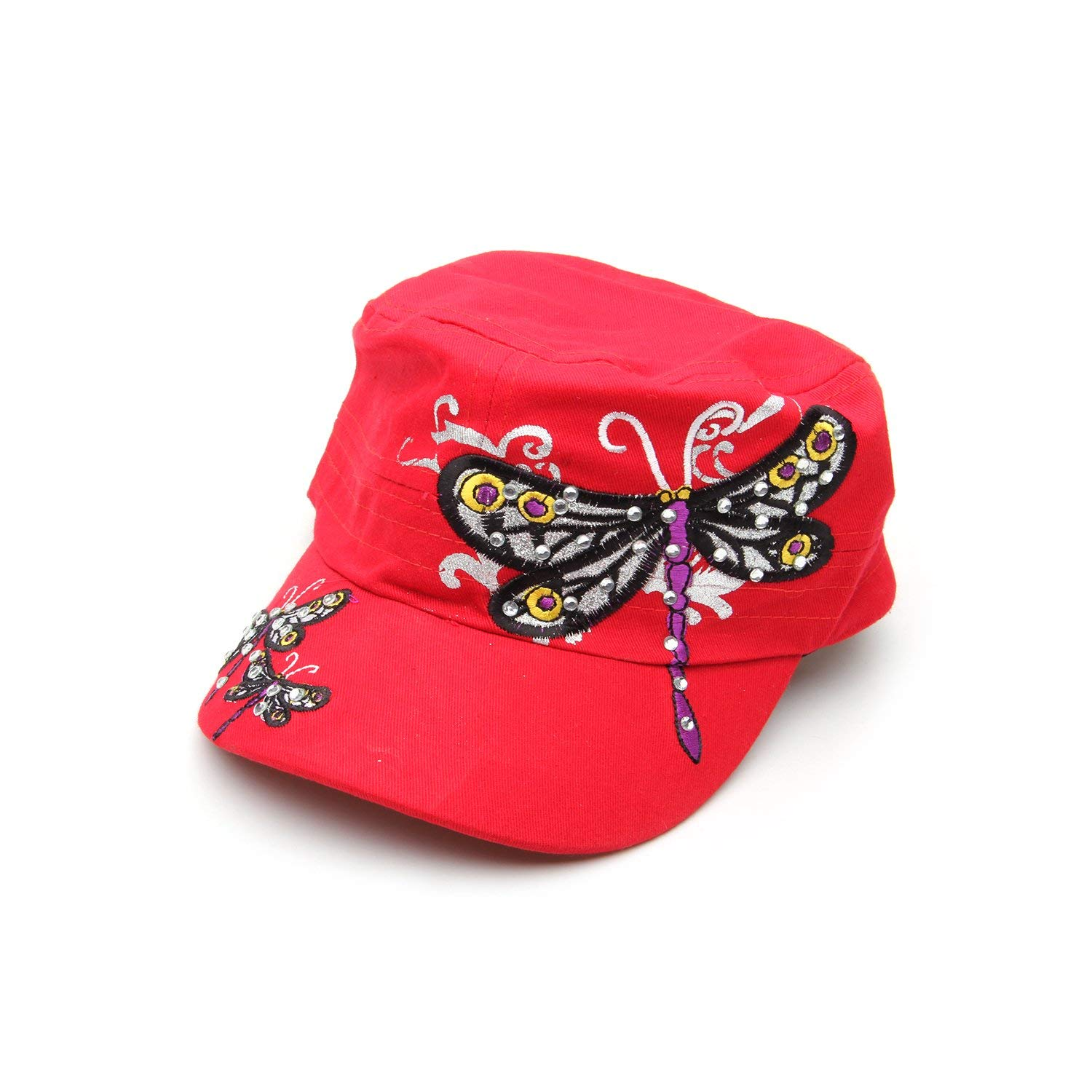 ba7320c9b8 Get Quotations · LianSan Girls Army Cadet Baseball Caps Snapback Hats for  Women Men HT2605