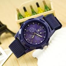 2015 Novo EXÉRCITO Suíã Relógio de Quartzo dos homens Tecido Strap Casual Genebra Analógico relógios de pulso dos homens Relógios Relogio Musculino