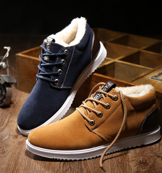 W10740G Men's casual shoes men's shoes winter fashion sneakers to keep warm and velvet