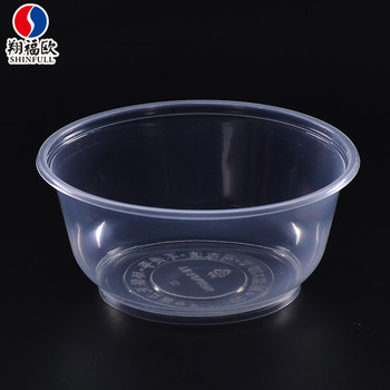 High Transpa Plastic Bowl With Lid Disposable Blister Pp Takeout Food Ng Microwave Safe