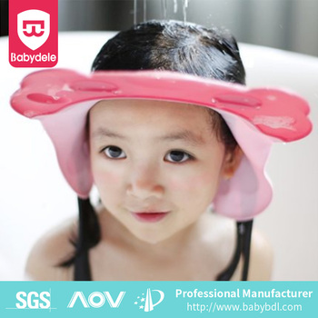 2017 Amazon Hot selling Baby Shower Cap Wash Hair Shield Bath Shampoo Hat  Bear Design Protective e50b0f81385