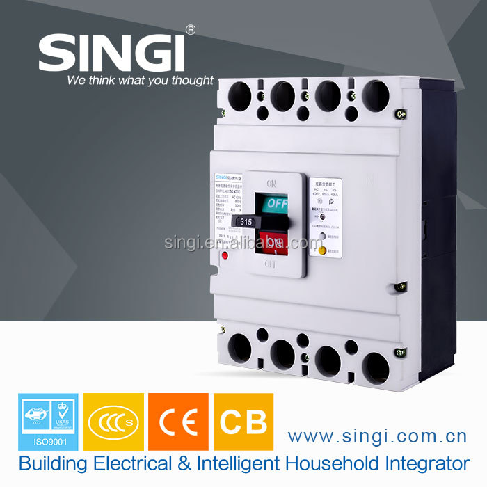 Residual current protection good breaking capacity 3p 100amp MCCB