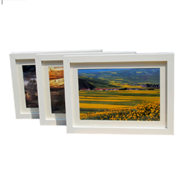 4x6 inch Natural Wood Color Double Sided Glass Picture Frame