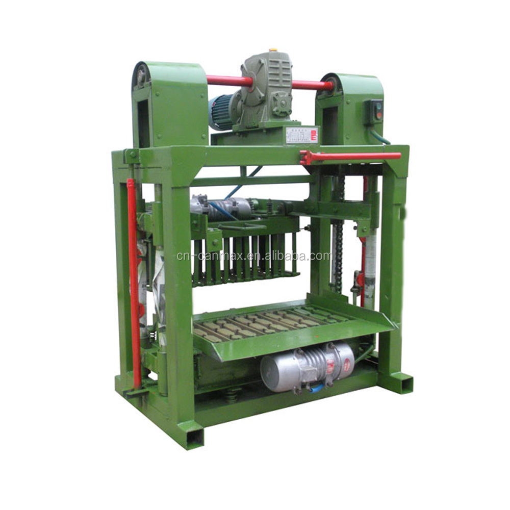 perfessional manufacturer semi-automatic clay brick production line / hallow block making machine