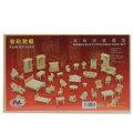 Hot Selling DIY Mini 34pcs set Kids Educational Dollhouse Furniture 3d Woodcraft Puzzle Model Kit handmade