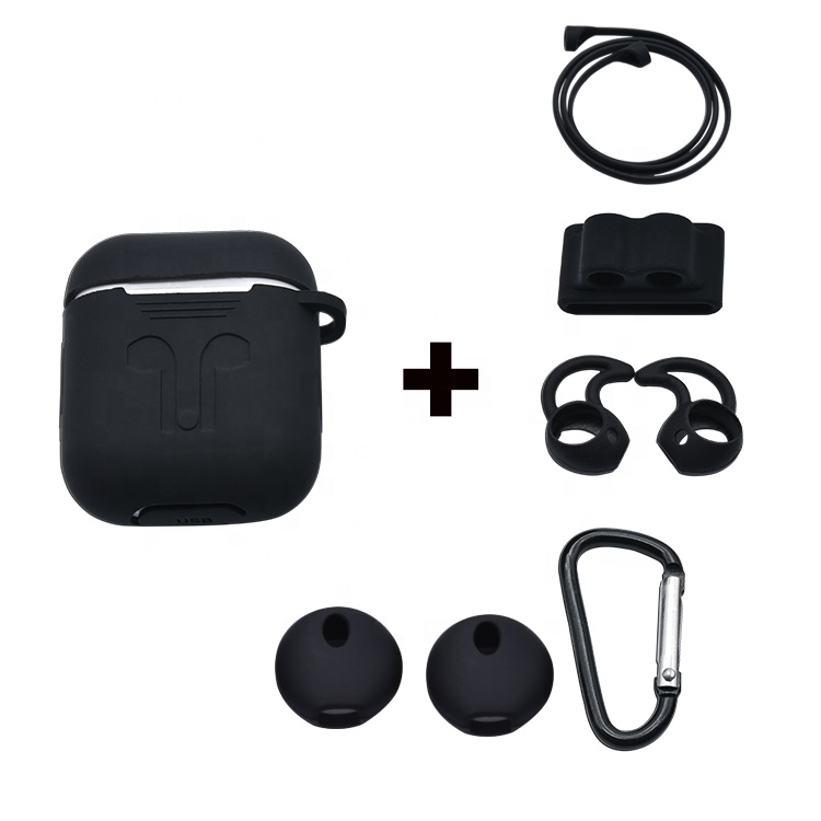 OEM un ensemble 8 en 1 étui en silicone sangle crochet support kit accessoires pour cosses d'air charge cas
