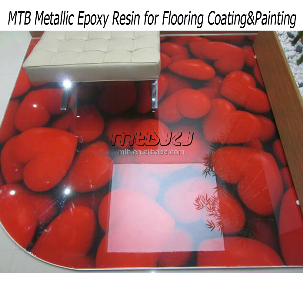 Hard Clear Epoxy Resin for 3D Floor Coating
