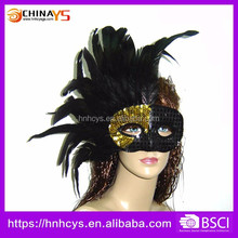 Hot sale halloween Feather Glitter Masquerade Mask For Christmas carnival Party