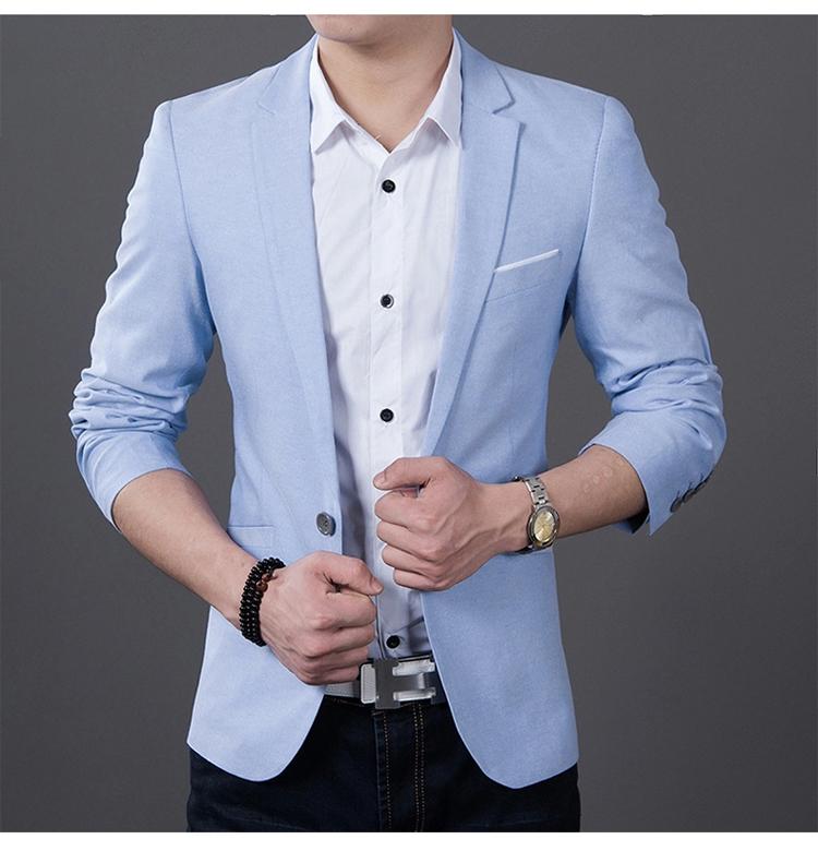2017 Fashion Men Casual 1 Cotton Jackets Male Slim Fit ...