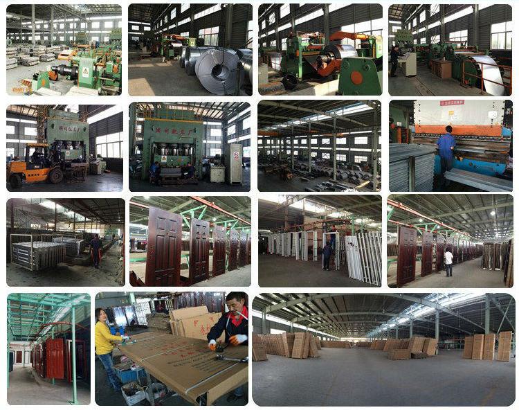 Çin Çelik Ahşap Kapı Tasarım Gana Depo