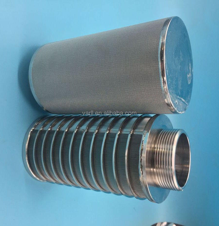Custom top quality stainless steel suction filter elements