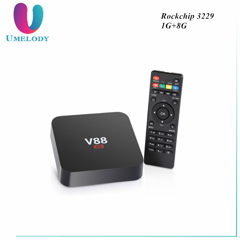 V88 Android 5.1 TV Box RK3229 1G 8G 4 USB 4K x 2K WiFi DLNA Media Player European IPTV SET TOP BOX
