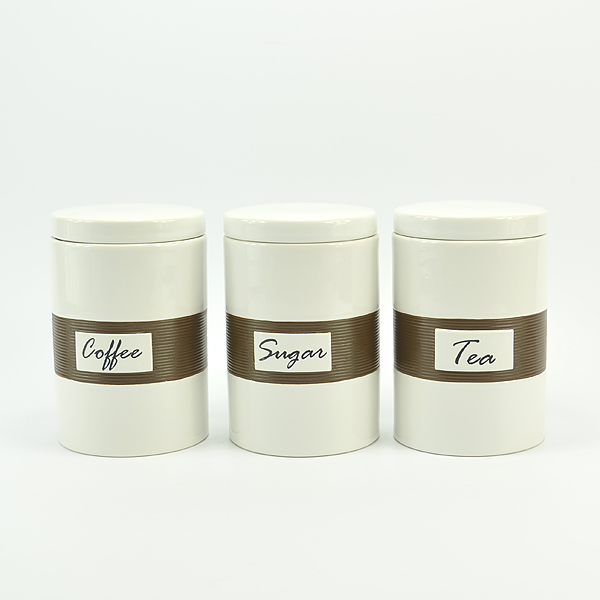 Made In China Wholesale Ceramic Canister Set Tea Canister