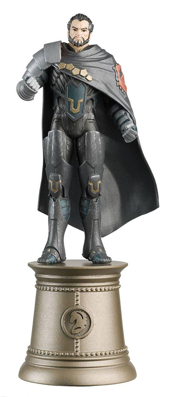 DC Superhero Zod Black Knight Chess Piece with Magazine by Eaglemoss Publications