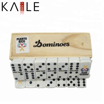 High quality domino in wood box with custom logo doomino