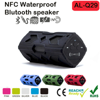 Water Resistant 2*3W Wireless Bluetooth 4.0 Speaker Shockproof Waterproof Wireless NFC Speaker with 3600mAh Power Bank