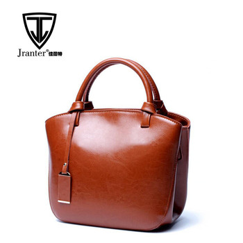 Hot sale high quality luxury women real leather brand handbag shoulder bag