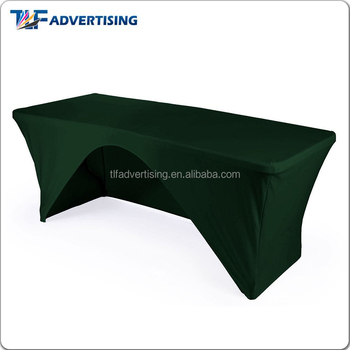 Customized lycra stretch spandex table cover for exhibition