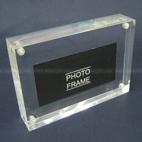 4R Acrylic Magnet Photo Frame Block, Crystal Clear Magnet Frame, 4 x 6 Clear Block Frames in Vertical and Horizontal design