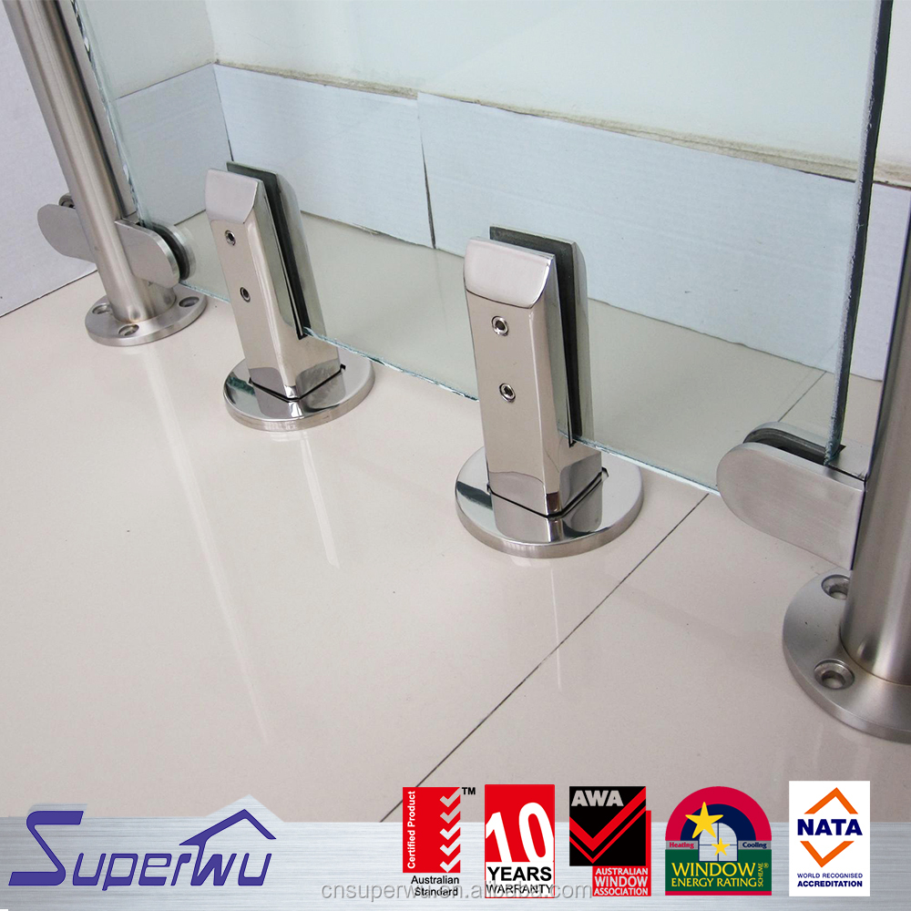 Fashion glass handrail swimming pool fence design pool glass fencing