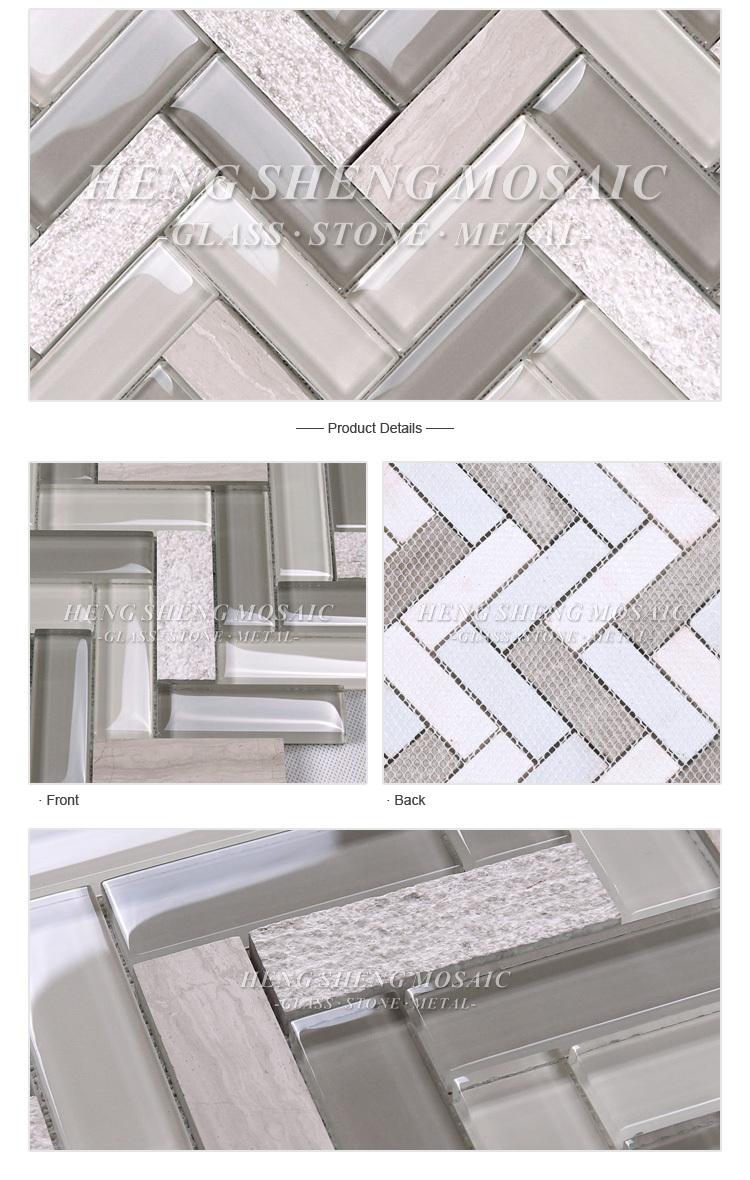 Großhandel Neueste Design Streifen Marmor Gemischt Glas Backsplash ...