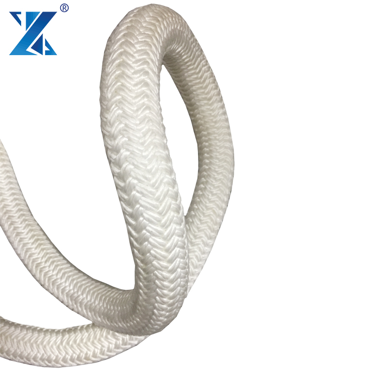 Snake braided polyester double braided poly dacron rope