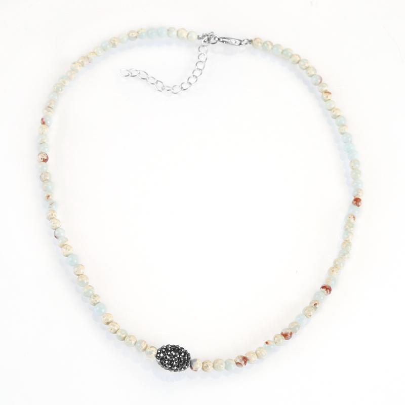 Snake Stone Necklace, Gemstone bead Necklace