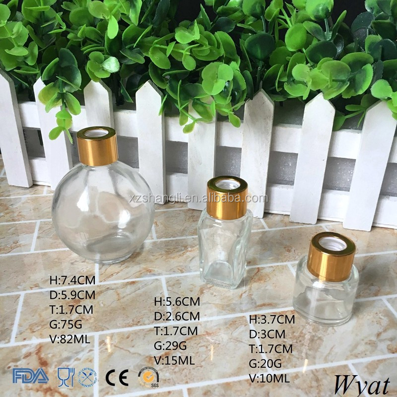 Premium Quality 10ml 15ml 80ml Small Glass Perfume Bottles with Gold Lids