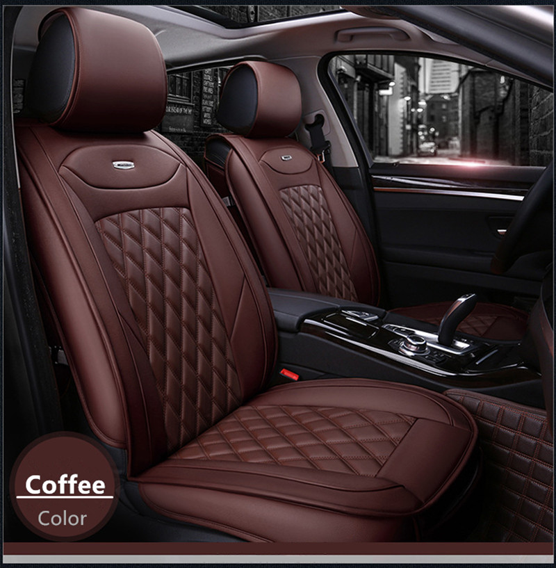 High Quality Car Seat Covers Universal Fit Polyester Composite Sponge Leather Cover For Toyota Hilux