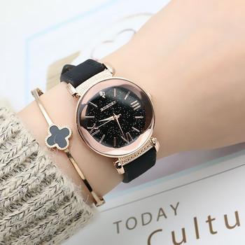 88e80f663af6 Nueva moda de Gogoey marca oro rosa Relojes de Cuero de las señoras de las  mujeres
